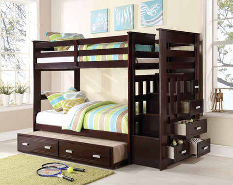Acme Allentown Twin over Twin Bunk Bed in Espresso-10170