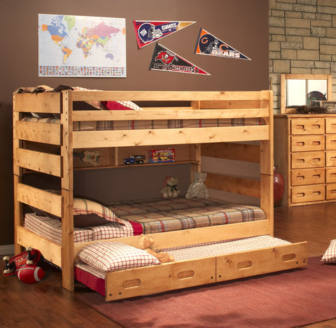 Chelsea Home Full Over Full Bunk Bed with Trundle - Cinnamon