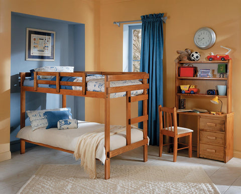 Chelsea Home Twin Over Twin Bunk Bed-Honey