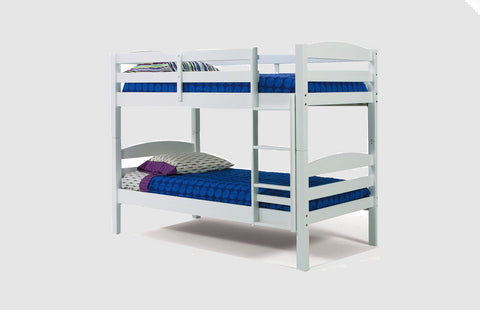 Chelsea Home Twin Over Twin Bunk Bed-White