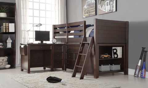 Acme Lacey Twin Loft Bed in Espresso Finish-37660