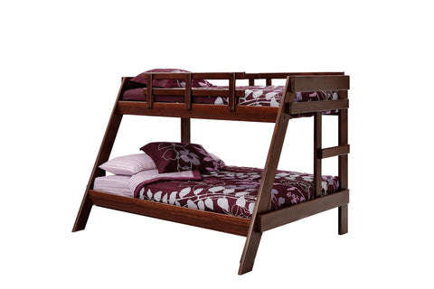 Chelsea Home Twin Over Full A Frame Bunk Bed- Dark