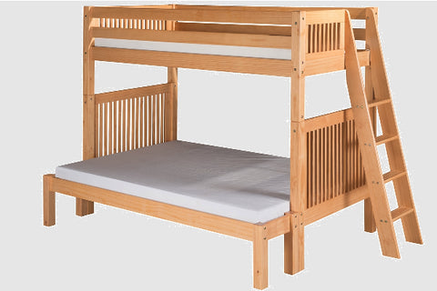 Camaflexi Twin over Full Bunk Bed with Drawers- Natural Finish