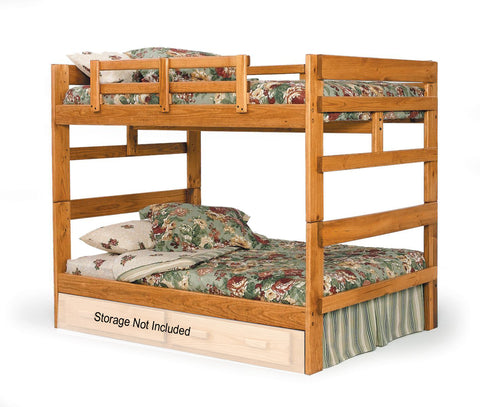 Camaflexi Full Over Full Bunk Bed in Honey