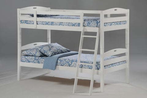 Night and Day Sesame Twin over Twin Bunk Bed-White