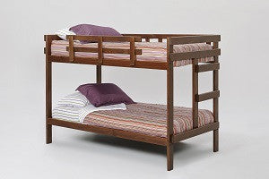 Chelsea Home Rustic Brown Twin Over Twin Bunk Bed