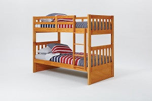Chelsea Home Mission Twin Over Twin Bunk Bed with Ladder