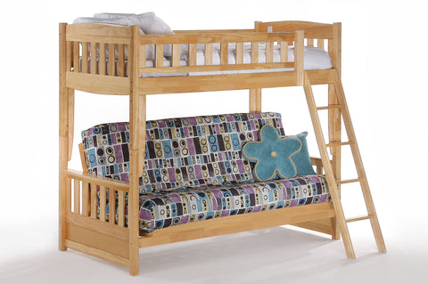 Night and Day Cinnamon Futon Bunk Bed in Natural Finish