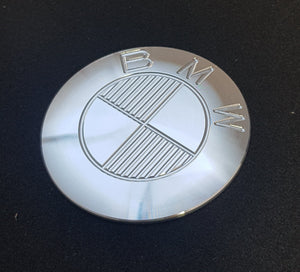 Ex-Motorcycle BMW Tank Badge - Icon Aluminium