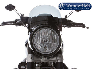 Wunderlich BMW R9T Vintage Headlight Cowl Screen - Clear