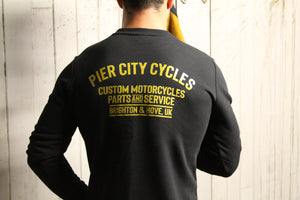 Pier City Cycles Original Sweatshirt - Black/Gold - Pier City Custom BMW R9T