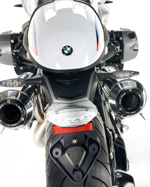 BOS BMW R9T Double Underseat Exhaust - Stainless Steel