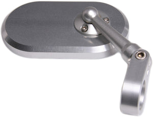 Oberon Performance BMW R9T Clamp Oval Bar End Mirror - Silver