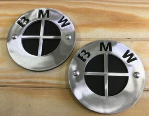 LuisMoto BMW R9T Brushed Tank Badge - Pier City Custom BMW R9T