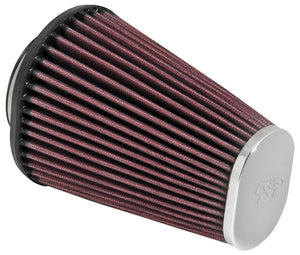 K&N Performance Cone Straight Chrome Tip Air Filter for BMW R9T - (Pair) - Pier City Custom BMW R9T
