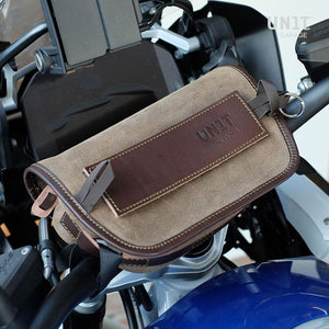 Unit Garage BMW R9T Sahara Handlebar Bag - Suede/Leather
