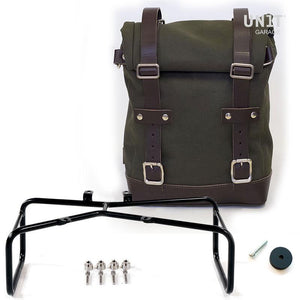 Unit Garage BMW R9T One Canvas Pannier & Double Asymmetric Luggage Rack