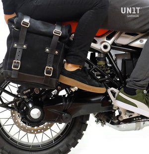 Unit Garage BMW R9T Canvas Pannier & Single Luggage Rack