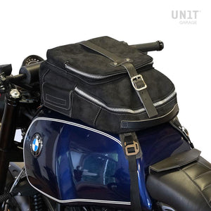 Unit Garage BMW R9T Tank Bag - Waxed Suede