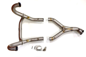 Unit Garage BMW R9T Titanium Exhaust Header Pipes - Visible Welds - Pier City Custom BMW R9T