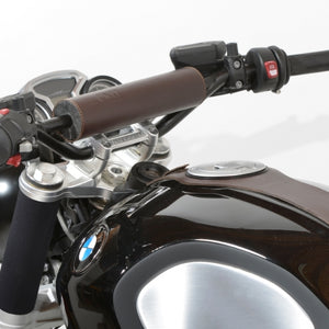 Unit Garage BMW R9T Handlebar Leather Pad Brown - Pier City Custom BMW R9T