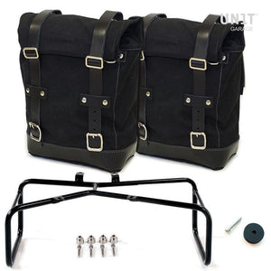Unit Garage BMW R9T Two Canvas Panniers & Double Asymmetric Luggage Rack
