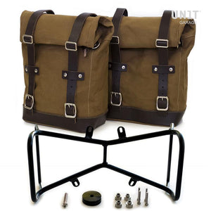 Unit Garage BMW R9T Two Canvas Panniers & Double Symmetrical Luggage Rack