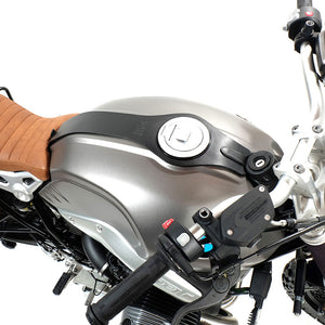 Unit Garage BMW R9T Leather Tank Strap - Black - Pier City Custom BMW R9T