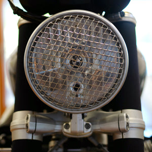 Unit Garage BMW R9T Front Headlight Cover Grill Natural Steel