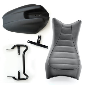 Unit Garage BMW R9T Monoposto Seat Unit And Tail Tidy Black Leather - Pier City Custom BMW R9T