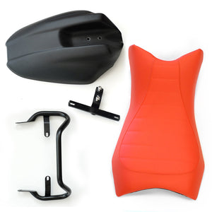 Unit Garage BMW R9T Monoposto Seat Unit And Tail Tidy Orange - Pier City Custom BMW R9T
