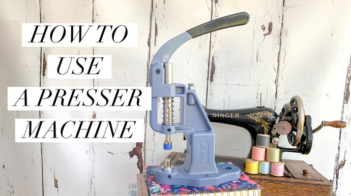 How to use a presser machine