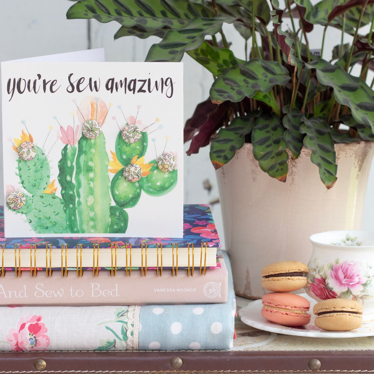 Cactus buttons greetings card
