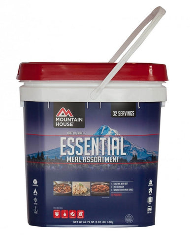 Just In Case Essential Bucket 12 Pouches by Mountain House