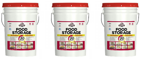 3 Month Emergency Food Storage Pails Kit