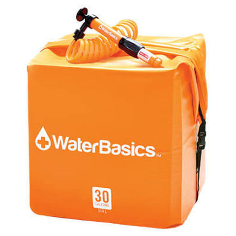 WaterBasics Water Storage Kit 30 Gallon with Filter