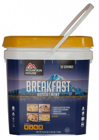 Just in Case Breakfast Assortment Bucket by Mountain House