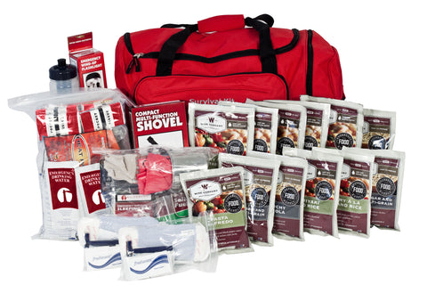 Guardian 1 Person Deluxe Food Storage 14 Day Survival Kit (Red or Camo)