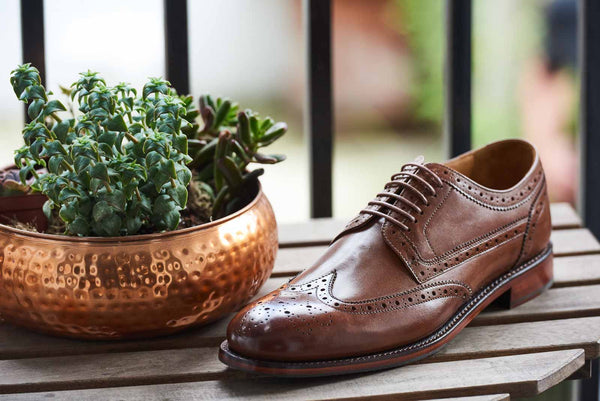 Langham - Brown Brogue Wing Tip Shoes
