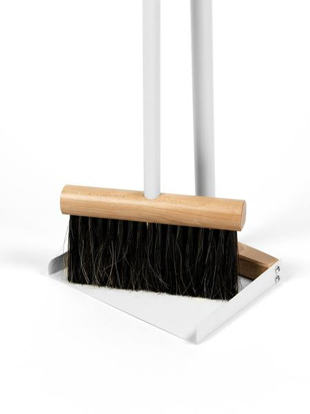 Broom Dustpan Set Standing Grey