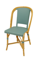 Woven Rattan Fouquet Bistro Chair Teal