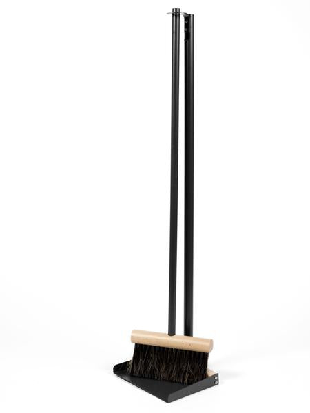 Broom Dustpan Set Standing Black