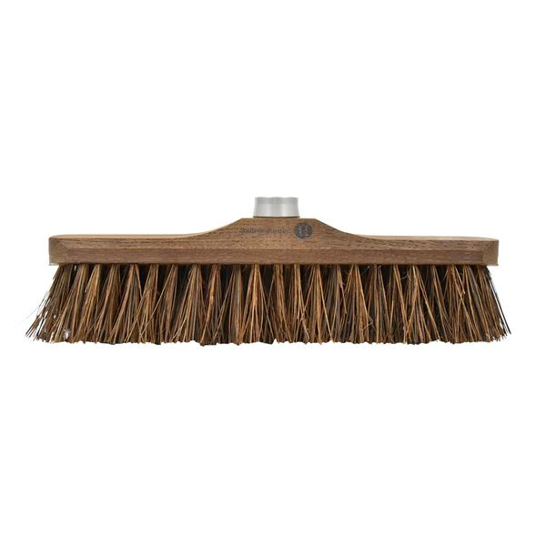 Heritage 43cm Ash Wood Outdoor Broom Head with Coconut Fibers