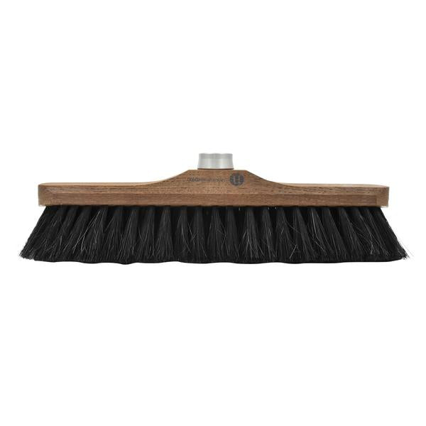 Heritage 43cm Ash Wood Outdoor Broom Head with Black Fibers