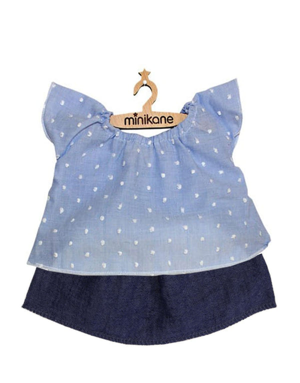 Doll Outfit - Satin Blue