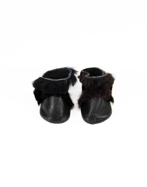 Doll Boots Leather Black