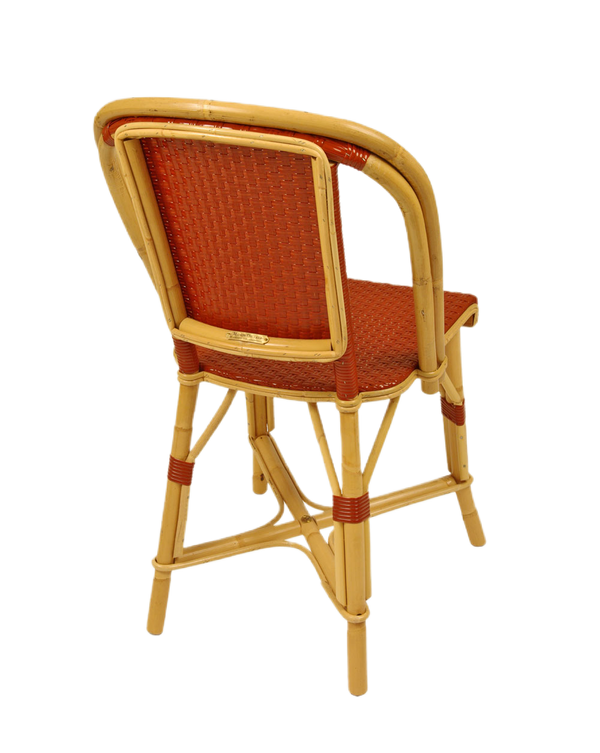 Woven Rattan Fouquet Bistro Chair Brick