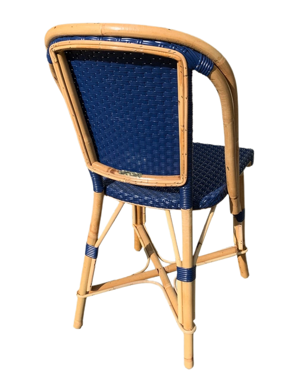 Woven Rattan Fouquet Bistro Chair Gyspsy Blue