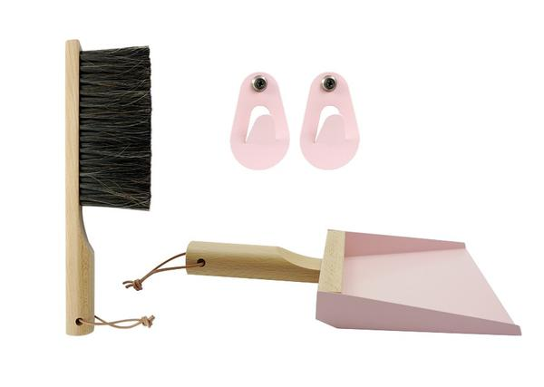 Hand Brush & Dustpan Set - Mr. & Mrs. Clynk in Pink