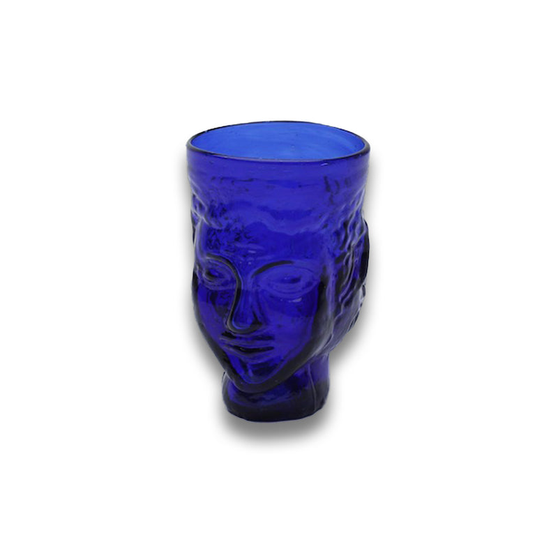 Glass Head Verre Tete Blue